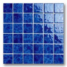 blue mosaic tile mirror china porcelain swimming pool use panels