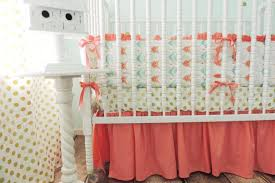 Aqua And Coral Crib Bedding by Modern Baby Bedding Crib Sets Combine Fun And Functionality With