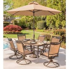 hanover fontana 7 outdoor dining set with swivel rockers