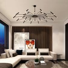 led kronleuchter für wohnzimmer schlafzimmer restaurant hotel kronleuchter haushalts schwarz decke le für dekorative beleuchtung