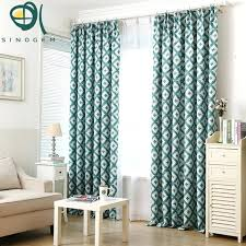 Green Geometric Curtain Fabric Brand Version Of The Pastoral Printed Blackout Curtains Shelf Can