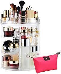 livehitop make up halter drehbar kosmetik organizer acryl 360 grad drehung große schmink aufbewahrung geschenk zum valentinstag mädchen frau
