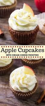 A Recipe For Apple Cupcakes With Cream Cheese Frosting Wedding Cupcake Recipes