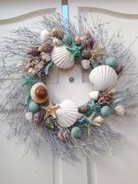 Seashell Christmas Tree Ornaments by Wreaths From Dollar Store Silver Spray Paint And Sea Decor And