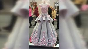 Life size wedding dress cake wows at cake show Video ABC News