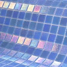 impressive iridescent glass mosaic pool tile with matching beige