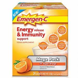 Emergen-C Energy Release and Immunity Support Food Supplement - Super Orange, 238g, 24ct