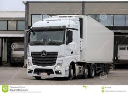 100 Mercedes Semi Truck White Benz Actros On Loading Zone Editorial Stock