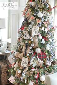 Burlap And Plaid Christmas Tree