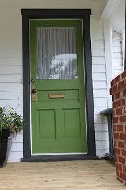 Green Front Door pops with black trim Currently my fav color of
