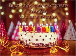 Happy Birthday Greeting Card with Birthday Cake