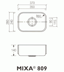 Dupont Corian Sink 809 by Dupont Corian Mixa 809 Counter Production Ltd