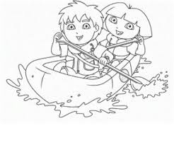 Dora And Diego Coloring Pages For Kids