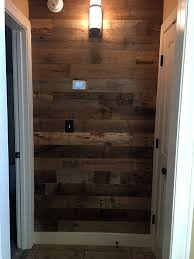 Reclaimed Wood Wall Finished