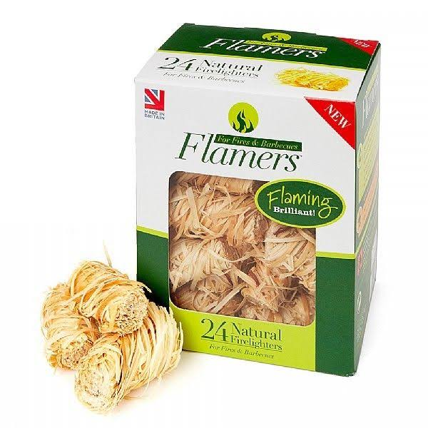Flamers Natural Firelighters - 24 Firelighters