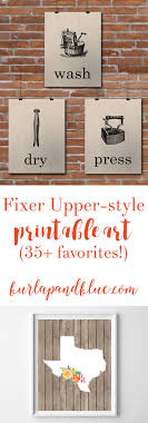 LOTS Of Rustic Farmhouse Fixer Upper Style Free Printables Includes Living Room
