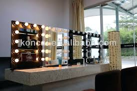 lighted makeup mirror wall mounted sided 10x battery