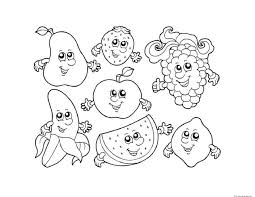Free Coloring Pages For Pdf Fruits