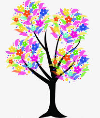 Color creative trees Color Trees Drawing Free PNG Image