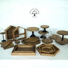 Wood Cake Stand Forest Style Wedding Tools Fondant Home Decoration Kitchen