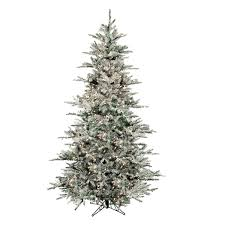 Flocked Christmas Trees Uk by Pre Lit 7 Foot Westwood Pine Flocked Artificial Christmas Tree