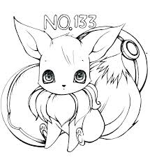 Collection Of Eevee Coloring Pages Online