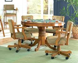 Swivel Dinette Chairs Dinning Chairs With Casters Dining Room Swivel