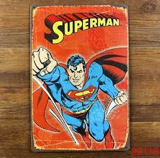 Vintage Superhero Wall Decor by Superma Retro Poster Vintage For Home Bar Wall Decor 20 30cm