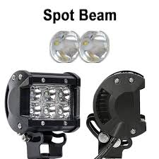 TURBOSII Spot 4In Pods Cube Led Work Lights Bumper Grill Offroad ... Turbosii Pair 7 Inch Led Light Bar Off Road Driving Fog Lights Super 10w Roundsquare Spotflood Beam Led Work For Car Motorcycle Land Rover Defender Offroad Truck 4x4 27w Round Spot Lightfox 20 Inch 126w Cree 4wd Flood 4 54w Flood Dc 1030v 172056 Lamp 2 Cree For Dicn 1 5in 45w Floodlights 45w Working 1pcs 5inch 18w Pod 2pcs 27w Tractor Boat