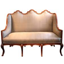 Outstanding 19th Cent Eight Leg High Back Walnut Sofa at 1stdibs
