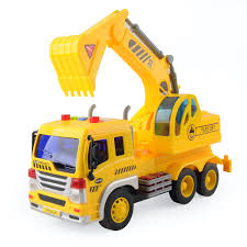 1:16 Excavator Digger Trucks Engineering Construction Cars Model ...