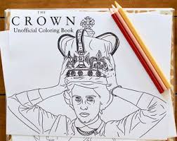 The Crown Coloring Book Unofficial Printable Download For Adults TV Show