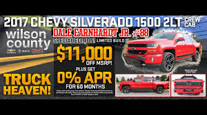 2017 Chevy Silverado Dale Earnhardt Jr #88 Edition Crew Cab Z71 2LT ... 2014 Chevrolet Silverado 1500 For Sale In Edmton Alberta Wem Gilbert Lease The All New Okchobee South Huge Savings During Chevy Truck Month At Jon Hall Youtube 3 Mustsee Special Edition Models Depaula Addison On Erin Mills A Missauga Buick Gmc Dealership General Motors Introducing Incentives Yearend Vehicles Riverton Wy Pick Up Truck Lease Deals Free Coupons By Mail Cigarettes 2017 Review Car And Driver Autoblog