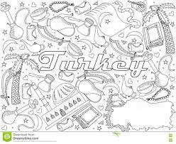 Illustration De La Turquie De Vecteur De Conception De Schéma