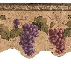 Wine And Grapes Kitchen Decor by Wine Grapes Wallpaper Border Vin7312db Cafe Kitchen Wine Decor