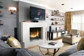 stylish modern fireplace living room design modern living room
