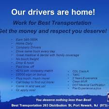 Best Transportation - PROVIDING GREAT PAYING JOBS TO GREAT DRIVERS ... Best Transportation Providing Great Paying Jobs To Drivers 50 Unique Image Sample Resume For Truck Driving Job Ideas Ez Wheels School 230 Commerce Pl Elizabeth Nj Jobs At Penske Edison Drivejbhuntcom Company And Ipdent Contractor Search Cdl From Tional Local Trucking Companies Vs With Uber Traing Schools Roehl Transport Roehljobs Truckload Refrigerated Dry Van Carrier Bradway Trucking Local Posts Career Opportunities Nrs Dump Famous 2018 Driver Solutions Sponsored Youtube