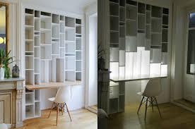 combiné bureau bibliothèque eclairage meuble bibliotheque