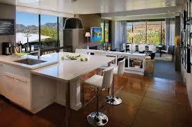 cuisine avec ilot bar cuisine ouverte sur salon en 55 idées open space superbes
