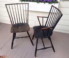 100 Bertolini Furniture Set Of 5 C 1830 Connecticut Bamboo Chicken Coop Windsor Chairs 2