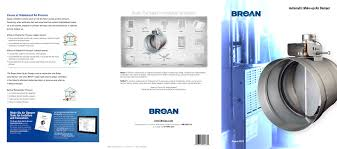 Broan Medicine Cabinet Canada by Broan Make Up Air Dampers Catalog Broan Pdf Catalogues