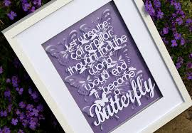 This A4 Paper Cut Backed With Butterflies Is Almost A3 When Framed It Can Be Your Choice Of Colour And Will Cost GBP45