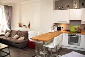 cuisine ouverte sur le salon amenagement salon cuisine ouverte idee deco cuisine ouverte sur