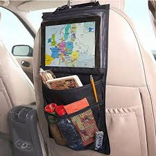 100 Car Seat In Truck NylonPVC Fabric Organizer Back Chair Multi Pocket Auto Storage Bag WithTouch Screen Film Storage Pockets Shoe