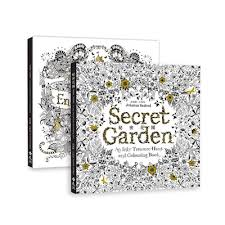 Secret Garden Enchanted Forest Coloring Book With 24 Colour Pencil