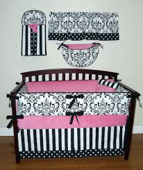 Pink Crib Bedding by Black And Pink Crib Bedding Baby Sets Zebra Damask U2013 Badania