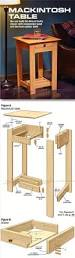 mackintosh table plans furniture plans and projects