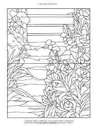 Color Your Own Tiffany Windows Dover Art Coloring Book Louis Comfort Possible Quilting Pattern Ideas
