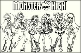 Doll Monster High Colouring Pages