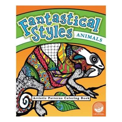 MindWare Fantastical Styles Animal Coloring Book
